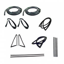 Master Weatherstrip Kit - With Large Back Window / Without Windshield Trim / With Chrome Beltline