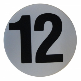 "Assembly Line Production Day Window Sticker - ""12"""