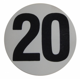 "Assembly Line Production Day Window Sticker - ""20"""