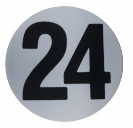 "Assembly Line Production Day Window Sticker - ""24"""