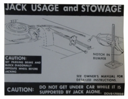 Jack Instructions Decal