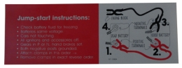 Jump Start Instructions Decal