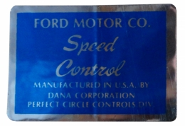 Speed Control Decal