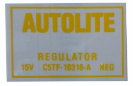 Voltage Regulator Decal
