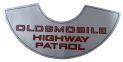 """Highway Patrol"" Air Cleaner Decal"