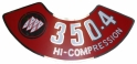 Air Cleaner Decal - 350-4V High Compression