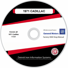 1971 Cadillac Shop Manuals & Parts Books on CDRom