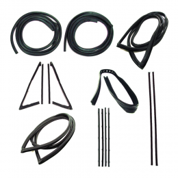 Master Weatherstrip Kit - With Large Back Window / With Windshield Trim / With Black Beltline