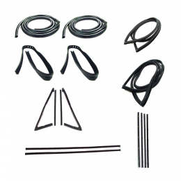 Master Weatherstrip Kit - With Large Back Window / With Windshield Trim / With Chrome Beltline
