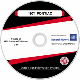 1971 Pontiac Shop Manuals & Parts Books on CDRom