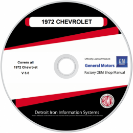1972 Chevrolet Shop Manuals & Parts Books on CDRom