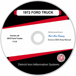 1972 Ford Truck / Van / Bronco Shop Manuals on CDRom