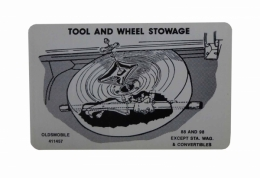 Tire Stowage Instructions Decal