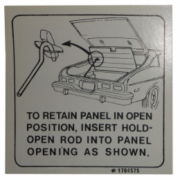 Hatchback Lid Instructions Decal