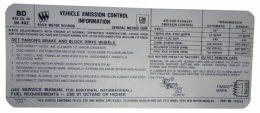 Manual & Automatic Transmission Emission Decal - 455-4V Stage I