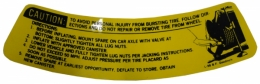 Space Saver Spare Tire Caution Decal