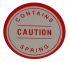 "Master Cylinder Booster ""Caution"" Decal"