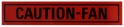 Caution Fan Decal