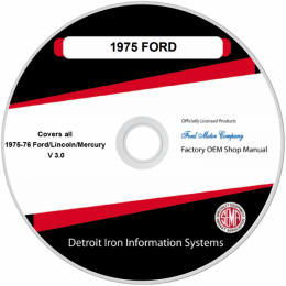 1975-1976 Ford Lincoln Mercury Shop Manuals & Sales Brochures on CDRom