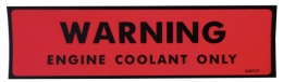 Engine Coolant Warning Decal