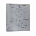 Tire Stowage Instructions Decal - Regular Wheel