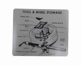 Tire Stowage Instructions Decal - Special Wheel