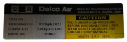 Delco AC Dryer Decal