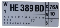 351 Automatic Transmission Engine Code Decal