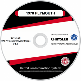 1978 Plymouth Chrysler Dodge Shop Manuals & Sales Brochures on CDRom