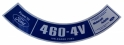 """460 4V"" Air Cleaner Decal - Models Requiring Unleaded Fuel"
