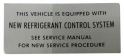 New Refrigerant Control System Decal