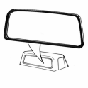 Back Window Seal - Groove for Narrow Chrome Trim