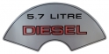 """5.7 Litre Diesel"" Air Cleaner Decal"