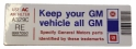 "Air Cleaner Decal - ""Keep your GM car all GM"" - 403 Engine"