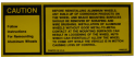 Caution Aluminum Wheel Decal - In Trunk