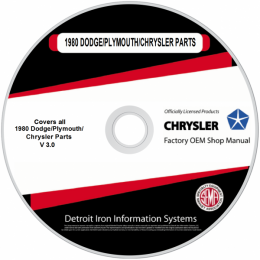 1980 Dodge / Plymouth / Chrysler Car Parts Manuals (Only) on CDRom