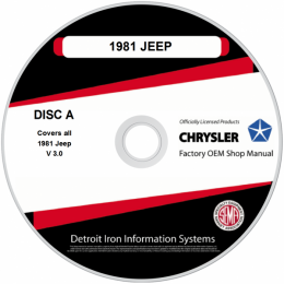 1981 Jeep Shop Manuals, Service Bulletins & Sales Brochures on 2 CDs