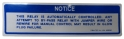 Diesel Glow Plug Caution Decal