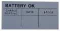 Battery Test OK Decal
