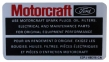 Motorcraft Parts Decal