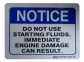 Diesel Start / Warning Instructions Decal