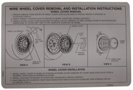 Wheel Cover Removal Decal