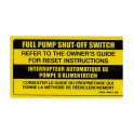 Fuel Pump Shut Off Switch Decal