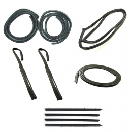 Master Weatherstrip Kit - With Chrome Trim