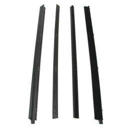 Beltline Weatherstrip - Also Called Window Sweeps, Felts Or Fuzzies - 4 Pc. Kit - Models Without Vent Windows