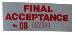 Final Inspection Decal
