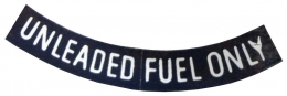 Unleaded Fuel Only - WHITE - 3""