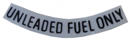 Unleaded Fuel Only - BLACK - 3""