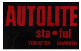 Autolite Sta-Ful Battery Decal