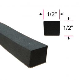 "Square Seal - 25' Roll - Peel N Stick - 1/2"" Tall 1/2"" Wide"